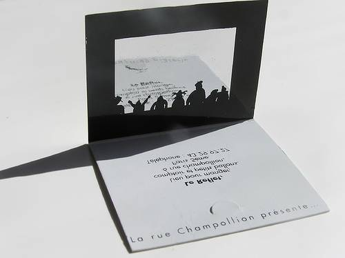 Reflective design – the card is printed in mirror image.