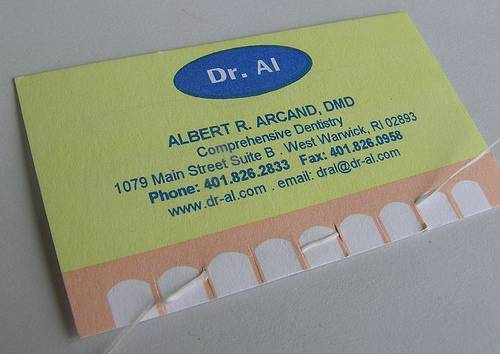 A little floss with your business card?