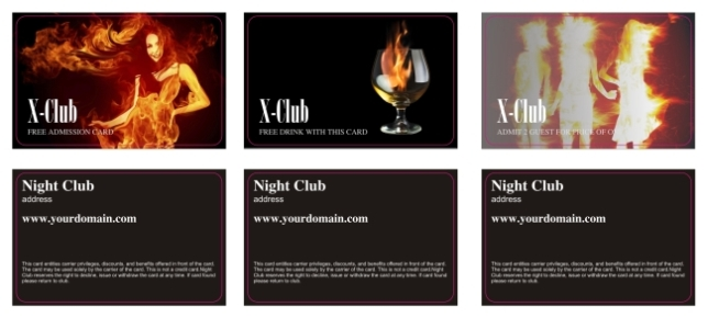 Club Card, Access Card, Membership Card  Membership Cards Templates