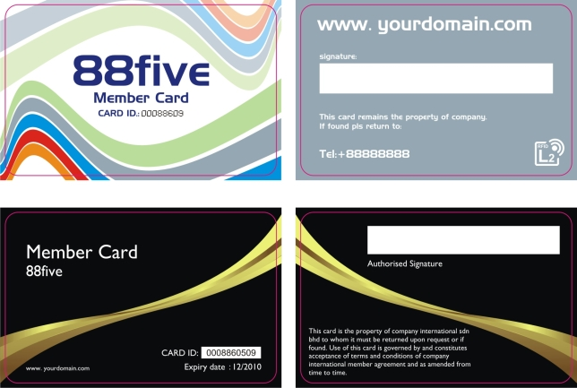 Color: Black ...  Membership Card Template