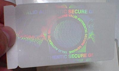 Card Hologram Id Overlay Adhensive - Plastic