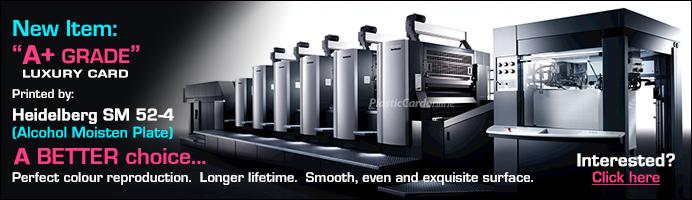 plastic card printing cost
