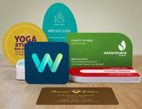Custom shape business card printing