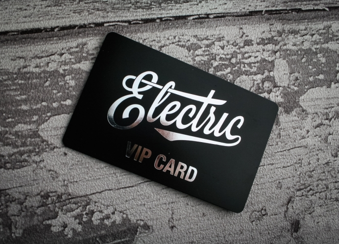 Black plastic vip cards