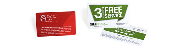 plastic promotional cards