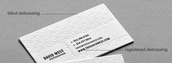 Debossed business cards colourmoves