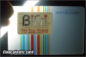 clear plastic card