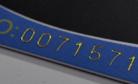 laser printed number