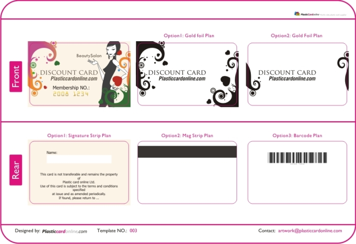 Membership Cards Template  Membership Cards Templates
