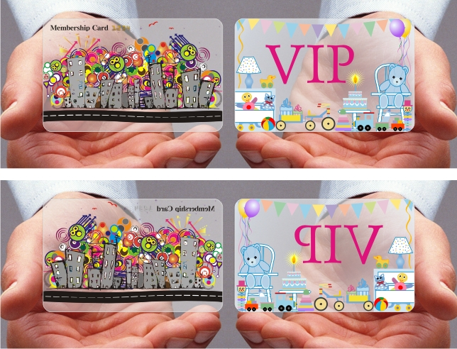 transparent card, frosted card, clear card