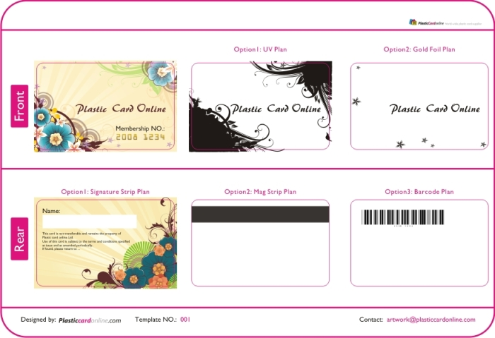 Flower background, Embossed membership card, Modern designed cards