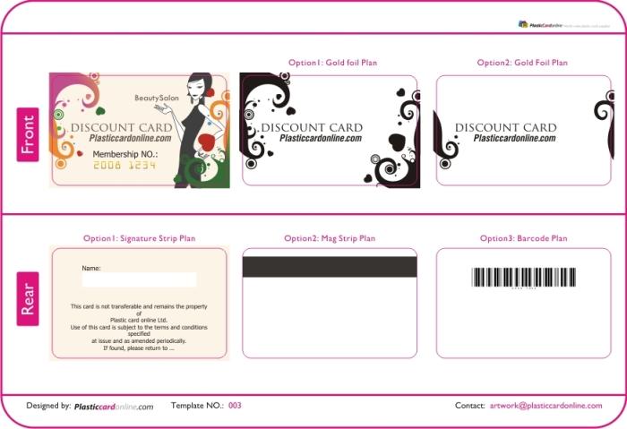 young lady , Spa salon membership card, signature strip